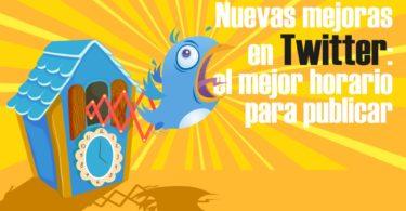 Twitter mejoras mejor horario publicaciones difusión audiencia